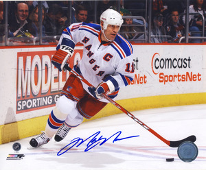 Mark Messier New York Rangers Autographed Action 8x10 Photo