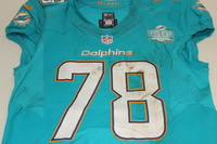 NFL - INTERNATIONAL SERIES - DOLPHINS TERRENCE FEDE GAME WORN DOLPHINS JERSEY (OCTOBER 4 2015)