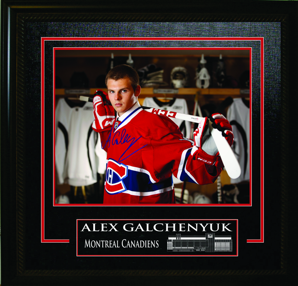 Alex Galchenyuk Signed 16x20 Etched Mat 2012 Draft Photo Canadiens