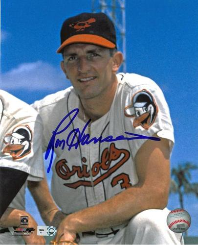 Photo of Ron Hansen Orioles Autographed 8x10