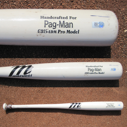 Photo of San Francisco Giants - Game-Used Broken Bat - WC Game v Mets - T7 Angel Pagan against Noah Syndergaard