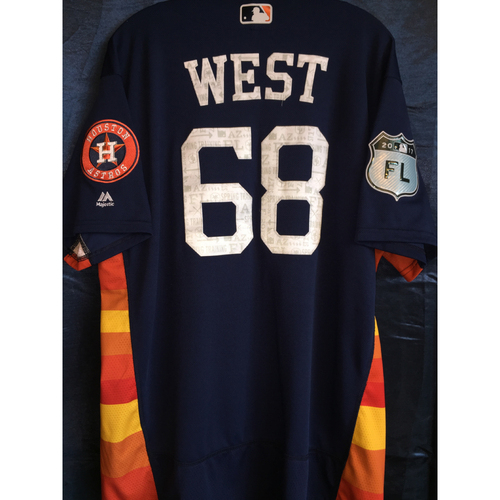 Photo of #68 Aaron West Team-Issued 2017 Spring Training Jersey