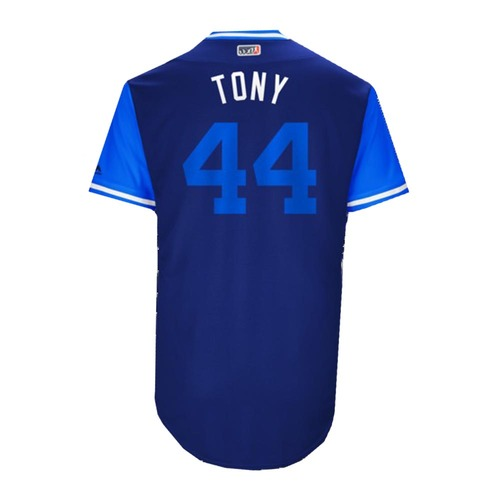 """Photo of Anthony """"Tony"""" Rizzo Chicago Cubs Game-Used Players Weekend Jersey"""