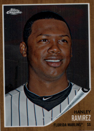 Photo of 2011 Topps Heritage Chrome #C150 Hanley Ramirez 1249/1962 -- Red Sox post-season