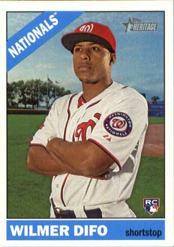 Photo of 2015 Topps Heritage #682 Wilmer Difo Rookie Card -- Nationals post-season
