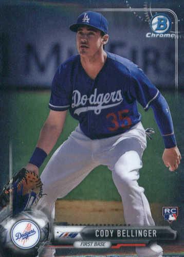 Photo of 2017 Bowman Chrome #27 Cody Bellinger Rookie Card -- Dodgers post-season