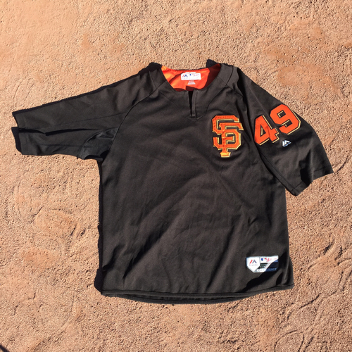 San Francisco Giants - 2017 Game-Used Batting Practice Jersey Worn by #49 Sam Dyson (Size: XL)