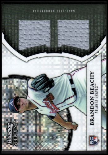 Photo of 2011 Bowman Sterling Rookie Dual Relic X-Fractors #BB Brandon Beachy