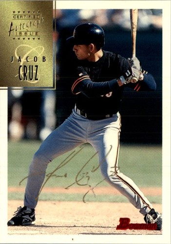 Photo of 1997 Bowman Certified Gold Ink Autographs #CA17 Jacob Cruz