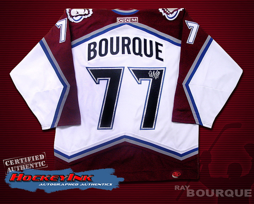 RAY BOURQUE Signed White Colorado Avalanche CCM Jersey