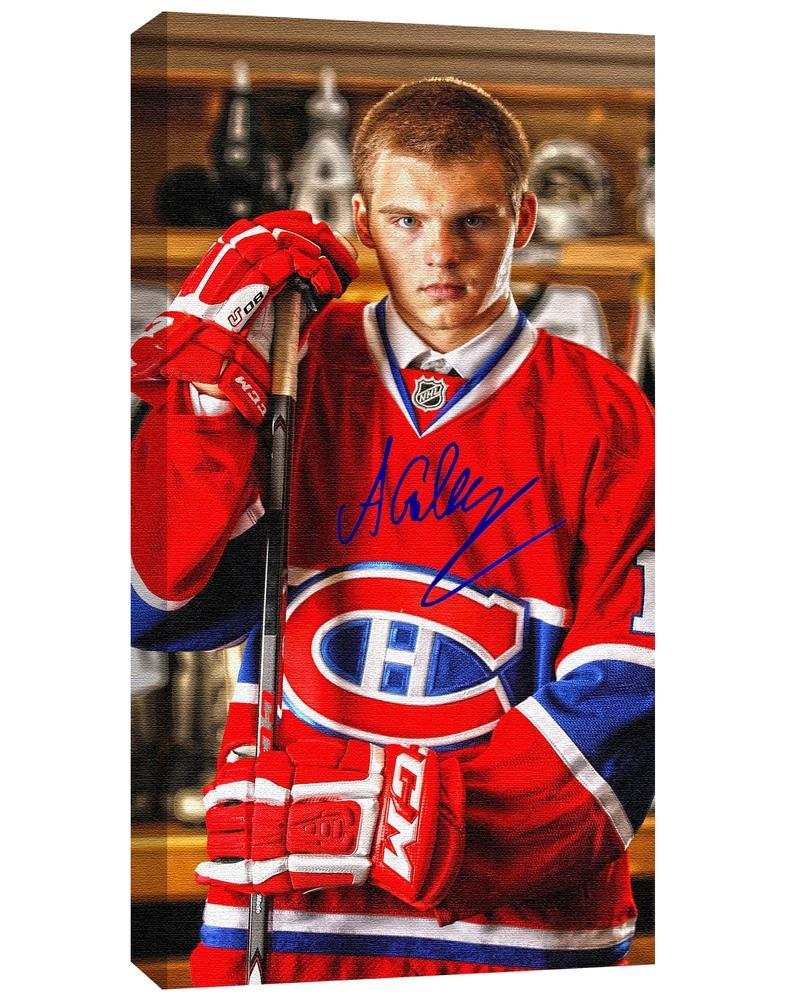 Alex Galchenyuk - Signed 14x28 Canvas - 2012 Draft Photo Canadiens