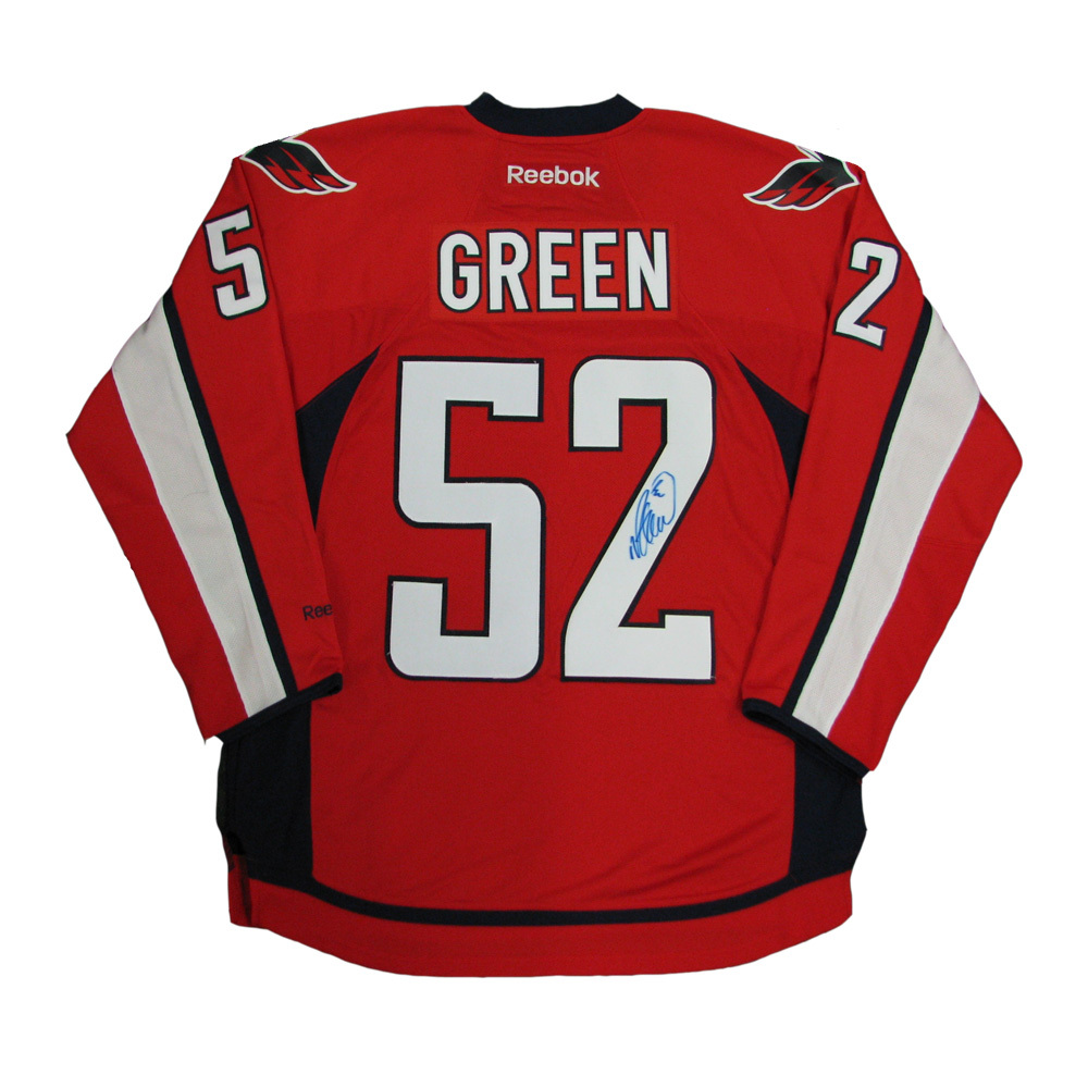 MIKE GREEN Signed Washington Capitals Red Reebok Jersey