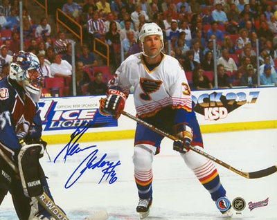 GLENN ANDERSON St. Louis Blues SIGNED 8x10 Photo