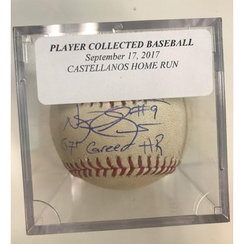 Photo of Autographed Player Collected Baseball: Nicholas Castellanos 67th Career Home Run