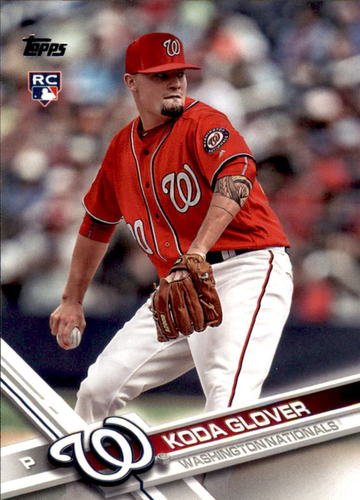 Photo of 2017 Topps #364 Koda Glover Rookie Card -- Nationals post-season