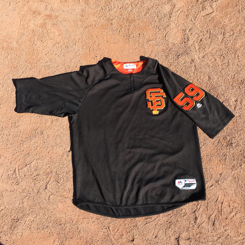 San Francisco Giants - 2017 Game-Used Batting Practice Jersey Worn by #59 Kyle Crick (Size: XL)
