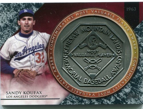 Photo of 2017 Topps Update MVP Award Relics #MVPRSK Sandy Koufax