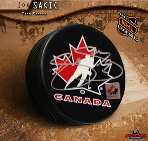 JOE SAKIC Signed Team Canada Puck