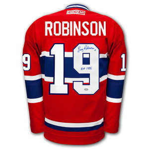 Larry Robinson Montreal Canadiens HOF CCM Autographed Jersey