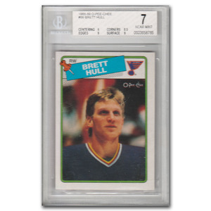 Brett Hull St Louis Blues 1988-89 O-PEE-CHEE #66 Rookie Card (Beckett NM 7)