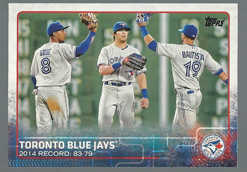 Photo of 2015 Topps #13 Toronto Blue Jays