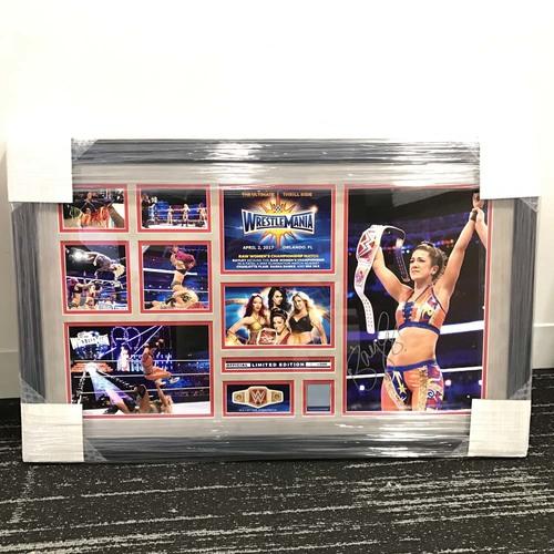 Bayley WrestleMania 33 Signed Commemorative Plaque (#1 of 500)
