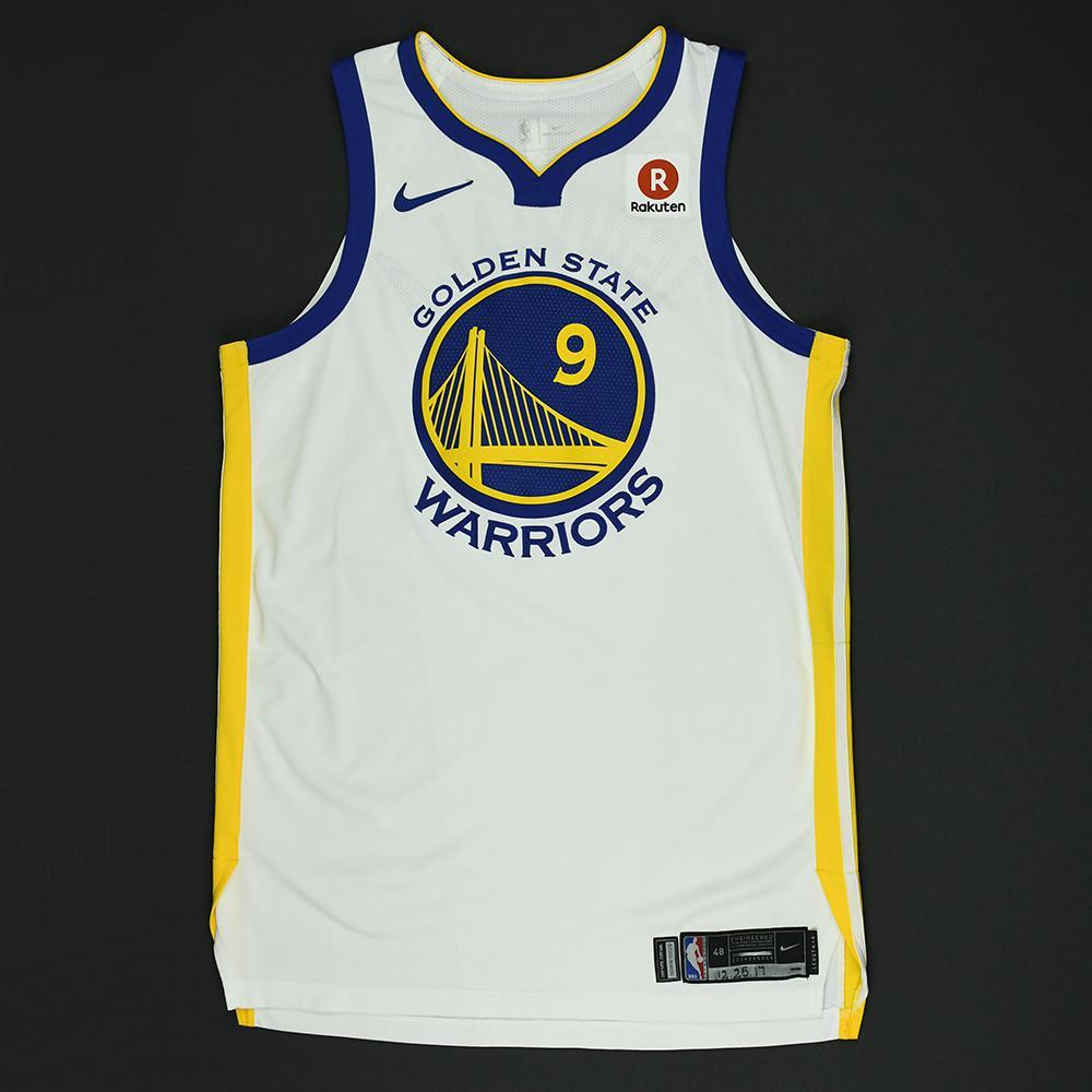 Andre Iguodala - Golden State Warriors - NBA Christmas Day '17 Game-Worn Jersey