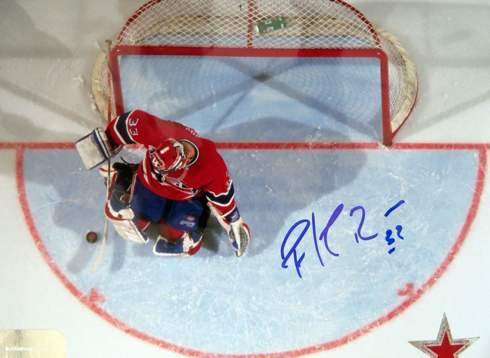 Patrick Roy Autographed Montreal Canadiens 8x10 Aerial Photo