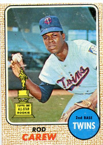Photo of 1968 Topps #80 Rod Carew -- Twins Hall of Famer