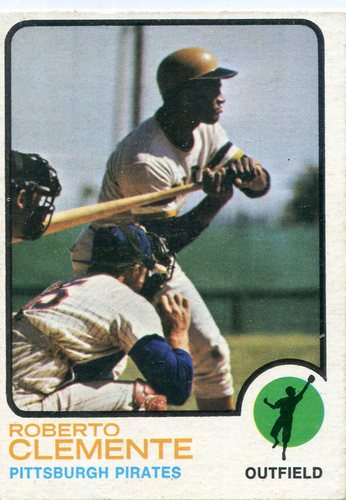 Photo of 1973 Topps #50 Roberto Clemente -- Hall of Famer