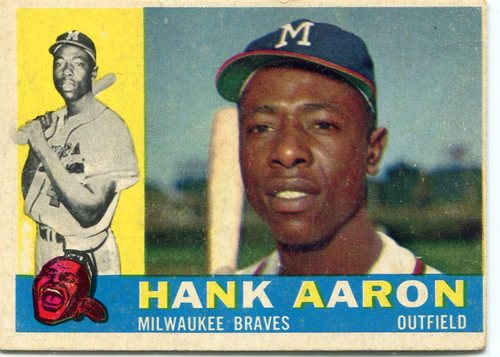 Photo of 1960 Topps #300 Hank Aaron -- Hall of Famer