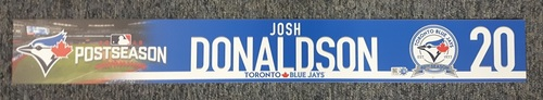 Photo of Authenticated Game Used Locker Name Plate - #20 Josh Donaldson. 2016 Wild Card Game.