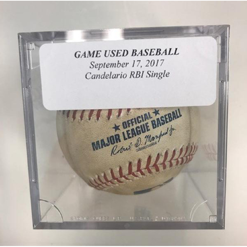 Photo of Game-Used Baseball: Jeimer Candelario RBI Single