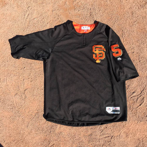 San Francisco Giants - 2017 Game-Used Batting Practice Jersey Worn by #5 Nick Hundley (Size: XL)