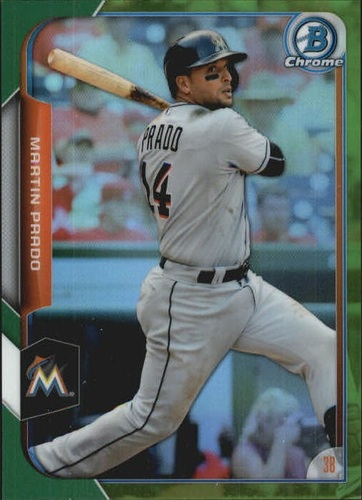 Photo of 2015 Bowman Chrome Green Refractors #95 Martin Prado