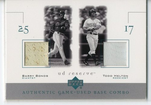 Photo of 2001 UD Reserve Ball-Base Duos #BBH Barry Bonds/Todd Helton
