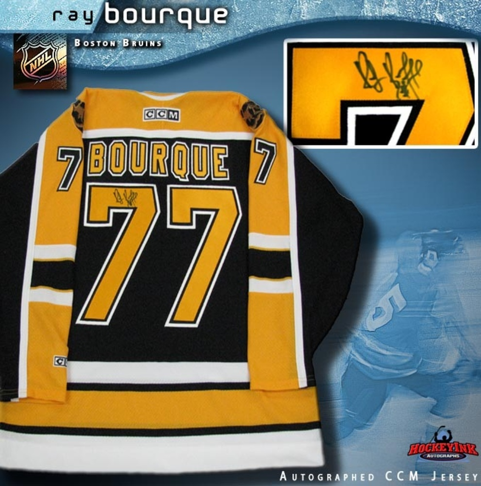 RAY BOURQUE Signed Black Boston Bruins Jersey