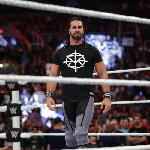Photo of Seth Rollins WORN & SIGNED T-Shirt (RAW - 06/20/16)