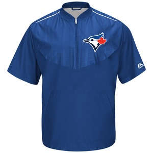 Toronto Blue Jays Authentic Collection Short Sleeve Training Jacket by Majestic
