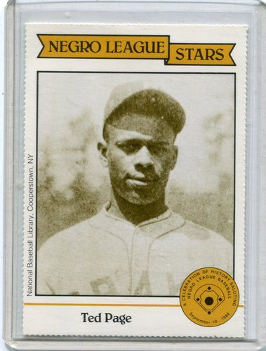 Photo of 1988 Negro League Duquesne Light Co. #15 Ted Page