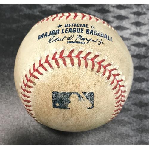 Photo of Game-Used Baseball - Brandon Drury Single & Daniel Descalso At Bat vs. Jose Torres
