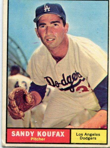 Photo of 1961 Topps #344 Sandy Koufax -- Hall of Famer