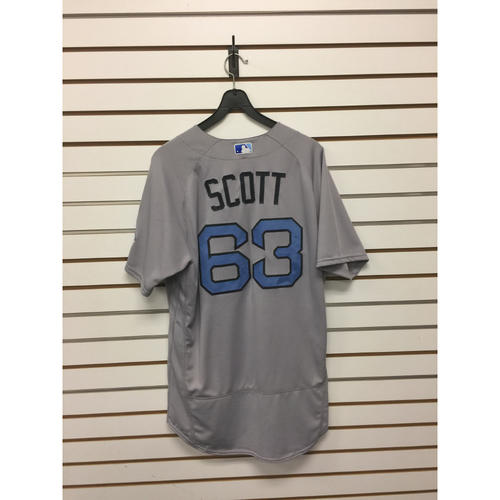 Photo of Robby Scott Game-Used June 18, 2017 Father's Day Road Jersey
