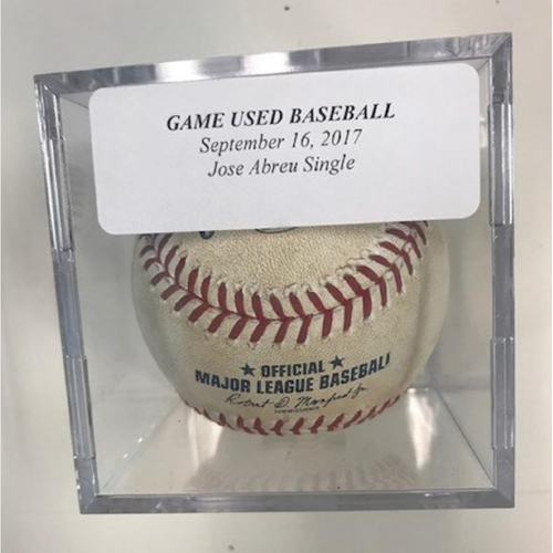 Photo of Game-Used Baseball: Jose Abreu Single