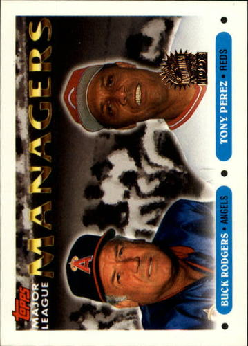 Photo of 1993 Topps Inaugural Marlins #503 Buck Rodgers MG/Tony Perez MG