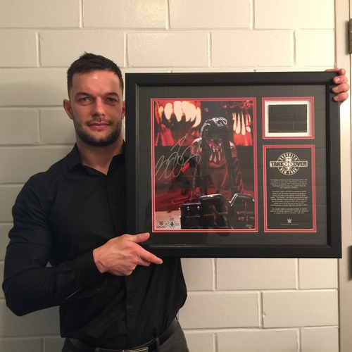 Photo of Finn Bálor SIGNED NXT TakeOver: Brooklyn Commemorative Frame with piece of ladder