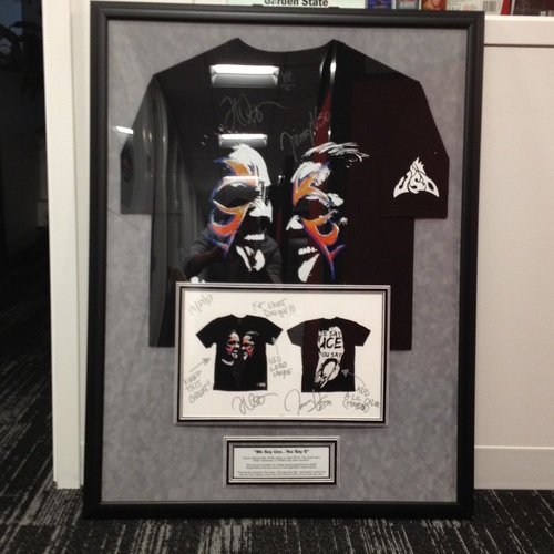 The Usos SIGNED Authentic T-Shirt Concept Plaque (1 of 1)