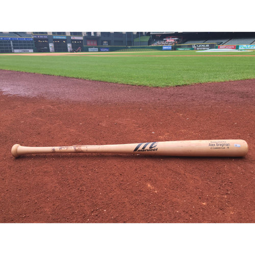 Photo of #2 Alex Bregman Game-Used Cracked Bat