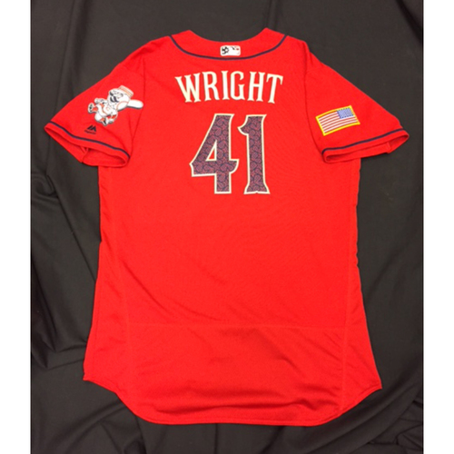 Photo of Team-Issued Jersey - Daniel Wright - July 4 Stars & Stripes Jersey