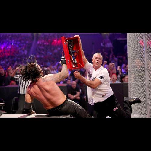 Photo of Undertaker & Shane McMahon USED & SIGNED Tool Box (WrestleMania 32 - 04/03/16)